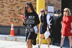 """""""Too much perfection is a mistake."""" #refinery29 http://www.refinery29.com/2015/09/93788/ny-fashion-week-spring-2016-street-style-pictures#slide-8"""