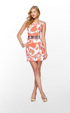 Lilly Pulitzer Kirkland Dress in Booze Cruise, Tango Orange $188.00 I WANT!