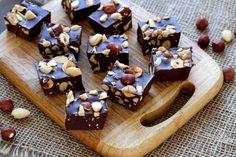 Comment faire des carrés chocolat Nutella et noisettes - 13 photos
