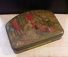 RARE Huntley Palmers Verona Biscuit Tin Box Shakespeare Theme Vintage Antique   eBay