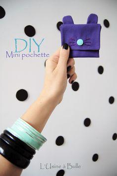 [DIY] Mini pochette lapin L'usine à bulle
