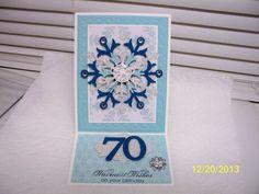 70th Birthday Easel Card