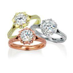 18K White Gold Iris Pave Diamond Engagement Ring #spring #ring #maevona @ Wedding Day Diamonds
