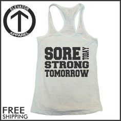 #workouttank Awesome motivational tank tops by Elevator Apparel. Burnout tank tops are great for running, crossfit, weight lifting, and more. Stay Motivated Stay Strong Stay Flexible Stay Healthy