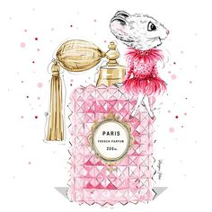 It's almost the weekend in Paris!!! I'm trying to choose which Perfume to spritz??! #ClarisTheMouse