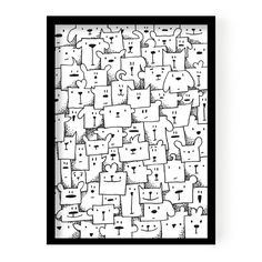 """B2 Poster """"Boxed animals"""""""