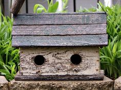 shabby birdhouse~ Love this and I think the birds love older, well-worn homes!