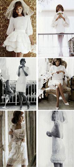 very jackie onassis - amazing chic wedding dresses.