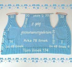 Knitted Boys' Vest Making – Ziyaret edilecek yerler - Baby Clothing Crochet Hooded Scarf, Crochet Vest Pattern, Baby Knitting Patterns, Knitting Designs, Knitting Stitches, Baby Patterns, Kids Vest, Baby Cardigan, Baby Sweaters