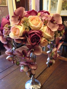 Amnesia roses and cymbidium orchids at phillo flowers london your artificial silk flowers pink rose orchids by sarasbudsandblossoms mightylinksfo