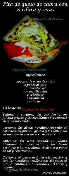 Pita de queso de cabra con verduras y setas