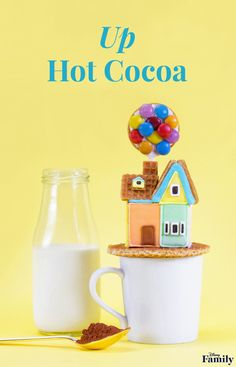 Build the most adorable 'Up' Hot Cocoa for cold winter days. Disney Inspired Food, Disney Food, Disney Recipes, Disney Drinks, Walt Disney, Disney Family, Disney Pixar, Hot Cocoa Recipe, Cocoa Recipes