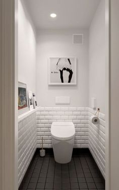 Scandinavian bathroom design ideas with white shades that you . - Scandinavian bathroom design ideas with white shades that you - Scandinavian Bathroom Design Ideas, Bathroom Design Small, Small Toilet Design, Scandinavian Style, Bath Design, Tile Design, Toilet Tiles Design, Scandinavian Toilets, Vanity Design
