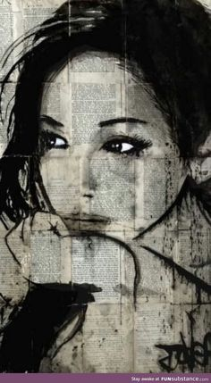 Loui Jover (born April is an Australian painter and artist. Loui Jover is . Loui Jover (born April is an Australian painter and artist. Loui Jover is known for his artwork which focuses on Ink Wash Paintings superimposed with Portrait Au Crayon, L'art Du Portrait, Pencil Portrait, Woman Portrait, Journal D'art, Journals, Newspaper Art, Newspaper Painting, Australian Painters