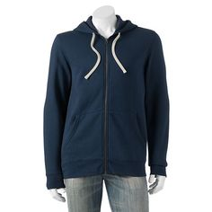SONOMA lifestyle Vintage Fleece Hoodie in Dress Blues -in Men's Small  (24)