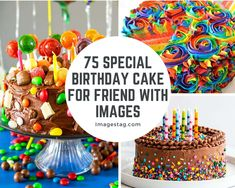 75 Special Birthday Cake For Friend with Images Birthday Cake For Brother, 75 Birthday Cake, Cartoon Birthday Cake, Avengers Birthday Cakes, Happy 75th Birthday, Friends Birthday Cake, Strawberry Birthday Cake, Special Birthday Cakes, Birthday Wishes For Friend