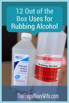 Most people don't realize is that there's a ton they can do with Rubbing Alcohol. Check out these out-of-the-box uses for rubbing alcohol. #frugalnavywife #usesfor #frugalliving #frugallivingtips | Uses For Rubbing Alcohol | Frugal Living Tips | Rubbing Alcohol Uses | Frugal Living Tips, Frugal Tips, Do It Yourself Projects, Do It Yourself Home, Ways To Save Money, How To Make Money, Rubbing Alcohol Uses, Navy Wife, Diy Christmas Gifts