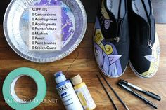 How to paint shoes - supplies needed