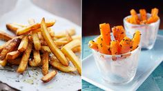8 Smart Swaps to Borrow From the Paleo Diet... swap roasted carrot sticks for french fries. Toss with olive oil, bake 425 til crisp. Sprinkle with salt & herbs.