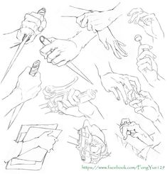 Hand reference - more too practice Anatomy Drawing, Body Drawing, Drawing Base, Manga Drawing, Figure Drawing, Gesture Drawing, Manga Art, Drawing Techniques, Drawing Tutorials