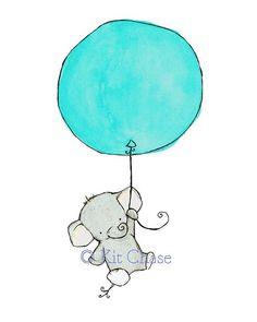 - etsy – trafalgar& square – baby nursery – art print – flying high – elephant with balloon – aqua by amie Source by shaferpatti Ankara Nakliyat Elephant Baby Rooms, Elephant Balloon, Baby Elephant Drawing, Elephant Watercolor, Elephant Drawings, Elephant Nursery Art, Elephant Elephant, Flying Elephant, Baby Balloon