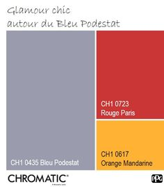 Une palette de couleurs idéale pour une pièce à vivre. www.chromaticstore.com