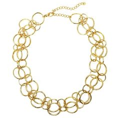 Fun & Elegant | Gold Hammered Layer Necklace | jewelboxonline.com