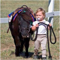 horse and kid - enfant et cheval