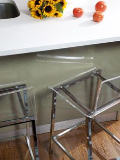 Acrylic stools    Small Space Solutions: Kitchens and Living Rooms : Decorating : Home & Garden Television