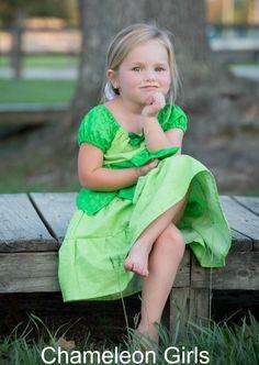 Tinkerbell Disney Princess Peasant Dress Costume by ChameleonGirls