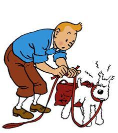 """Boutons de manchettes en métal argenté """"Tintin et Milou"""" : Autres accessoires"""