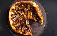 Eggplant Tarte Tatin with Black Pepper Caramel: 2000s Recipes + Menus : gourmet.com (sub earth balance)