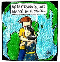 Batiendo récords ❤️ . . . . . #abrazos #abrazo #mundo #amor #love #willlabeta #comic #historieta #español #españa #tebeo #color #pincel…