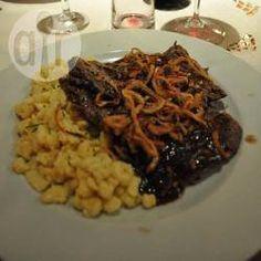 Foto recept: Biefstuk met uien