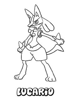 FIGHTING POKEMON coloring pages - Lucario