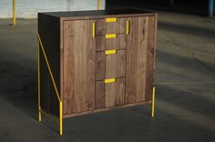 solid gold record cabinet