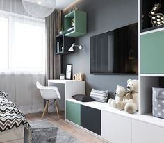 Unisex Kids Room Design 16 Ideas For 2019 Kids Room Design, Home Office Design, Kids Bedroom, Bedroom Decor, Kids Rooms, Master Bedroom, Ikea Kids Room, Unisex Kids Room, Kids Study Desk