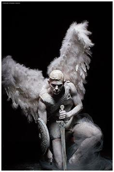 Sebastian Sauve is a Fallen Angel for L'Officiel Hommes Greece Shoot - . - Sebastian Sauve is a Fallen Angel for L'Officiel Hommes Greece Shoot – # - Angels Among Us, Angels And Demons, Art Masculin, Tatoo Angel, Fallen Angel Tattoo, Statue Ange, Male Angels, Male Fallen Angel, Angel Tattoo Designs