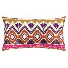 Trina Turk Anza Embroidered Pillow, Magenta