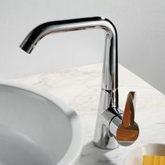 Chrome Finish Solid Brass Kitchen Faucet T0787
