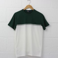 Fred Perry Colour Block Crew Neck T-Shirt (Tartan Green) from new-entry.com #newentry #fredperry #menswear