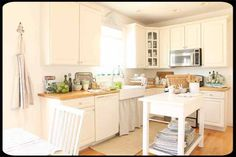 kitchen - white with wood counters