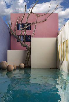 Best of Luis Barragan Home Designs Thar are Colorfully Aesthetic Architecture Design, Minimalist Architecture, Futuristic Architecture, Amazing Architecture, Landscape Architecture, Futuristic Design, Futuristic Interior, Architecture Diagrams, Architecture Portfolio