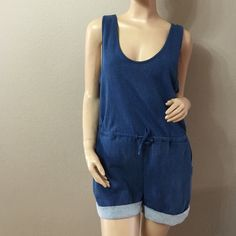 Cute Summer Denim Like Romper  Soft rompers, looks like denim but its not, very comfortable. 100% cotton Wyld E Hart Shorts