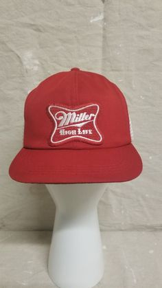 d5a5fe7d Vintage Miller High Life Beer Lite Made In USA Trucker Hat Baseball Cap  Patch #Unbranded #TruckerHat