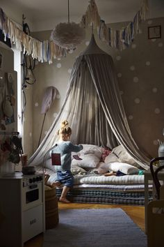 Cute kids bedroom from Kinder Homes: Make Your Home Sustainable With IKEA - Gravity