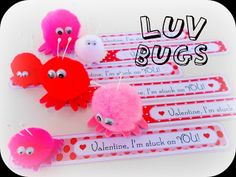 Warm Fuzzy Valentine Luv Bugs~ A cute & easy Valentine idea