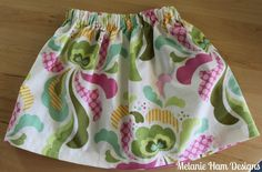 handmade baby skirt diy heather bailey groovy fabric