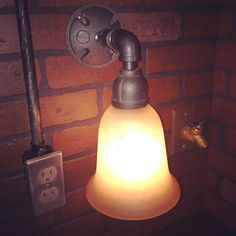 SteamPunk Industrial Wall Sconce Light with by EdandSonsLights
