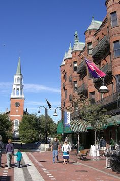 Upper Church Street, Burlington, Vermont.. travel channel is doing a segment on this town right now and I'm starting to miss it so much..